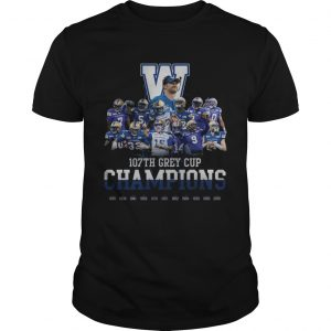 107th Grey Cup Blue Bombers Champions  Unisex