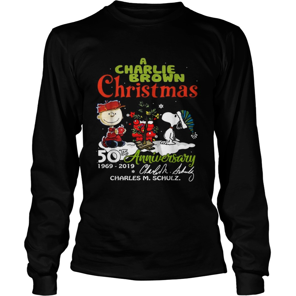 1572683003A Charlie Brown Christmas 50th Anniversary 1969-2019 signature LongSleeve