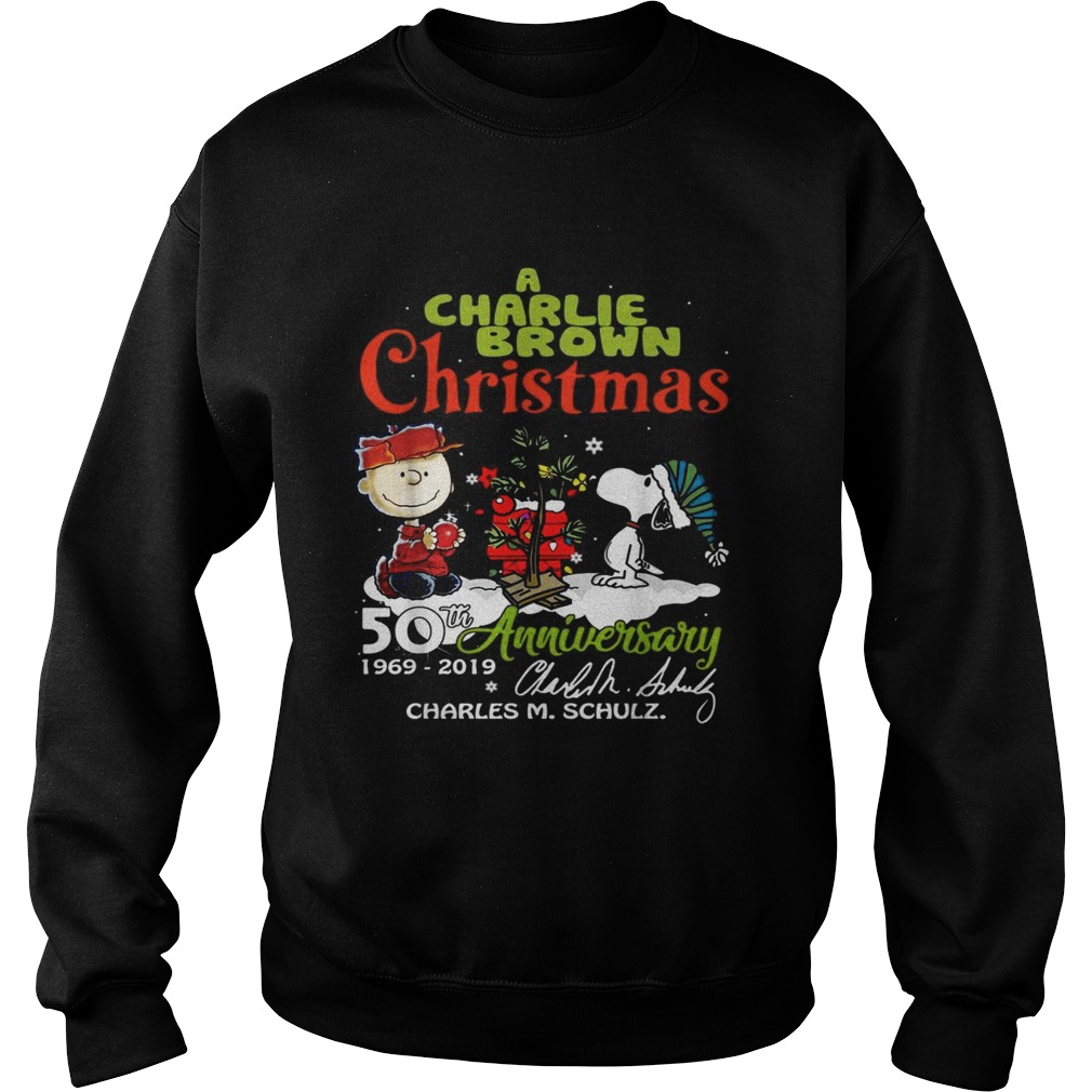 1572683003A Charlie Brown Christmas 50th Anniversary 1969-2019 signature Sweatshirt