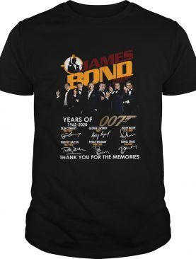 58 Years Of James Bond 007 Thank You For The Memories Signatures shirt