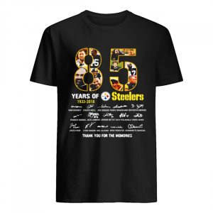 85 years of 1933-2018 Pittsburgh Steelers thank you for the memories signature  Classic Men's T-shirt