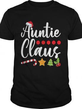 Auntie Claus Santa Hat Christmas shirt