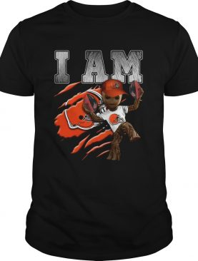 Baby Groot I Am Cleveland Browns shirt