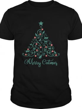 Cat Lover Christmas Gifts Merry Catmas Cats Christmas Tree shirt