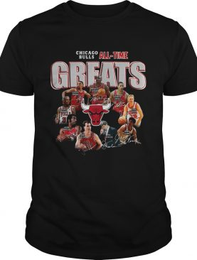 Chicago Bulls All Time Greats Signatures shirt