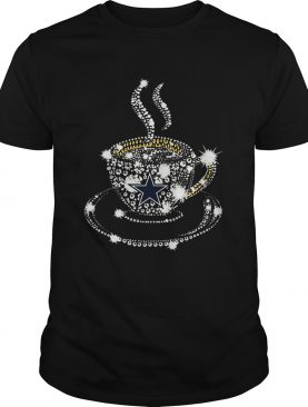 Coffee Dallas Cowboys rhinestone shirt L