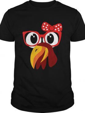 Cute Turkey Face With GlassesBow Nerdy shirt