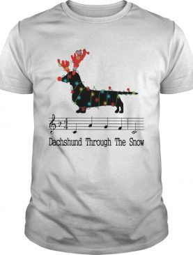 Dachshund Through The Snow Christmas Lights shirt