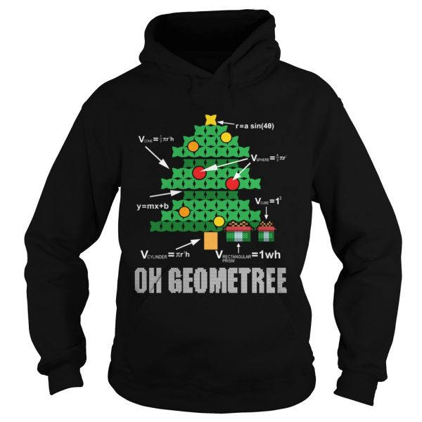 Funny Math Geometry Christmas Tree Geometree Teacher  Hoodie