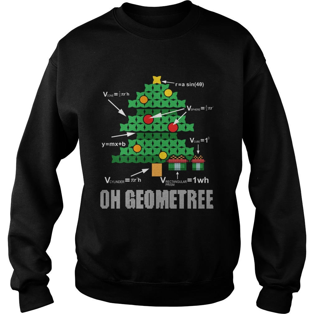 Funny Math Geometry Christmas Tree Geometree Teacher Sweatshirt