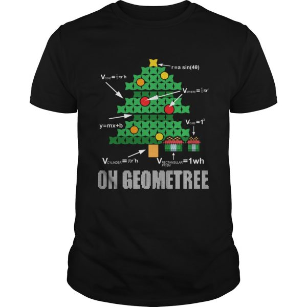 Funny Math Geometry Christmas Tree Geometree Teacher  Unisex
