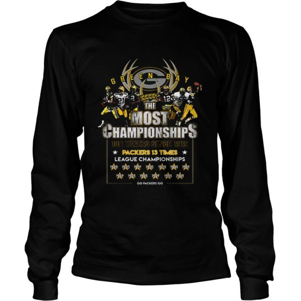 Green Bay Packers the most championships 100 years since 1919  LongSleeve