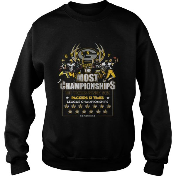 Green Bay Packers the most championships 100 years since 1919  Sweatshirt
