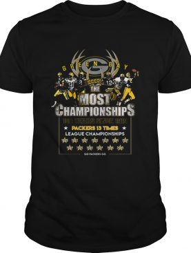 Green Bay Packers the most championships 100 years since 1919 shirt