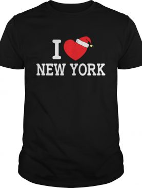 I Heart New York Christmas Santa Hat New York Strong Love shirt