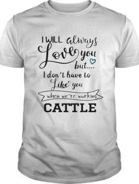 I will always love you but I dont have to like you shirt