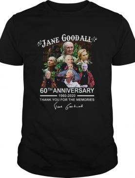 Jane Goodall 60th anniversary thank you for the memories shirt