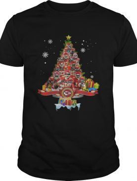 Kansas City Chiefs Players Signatures Christmas Tree shirt