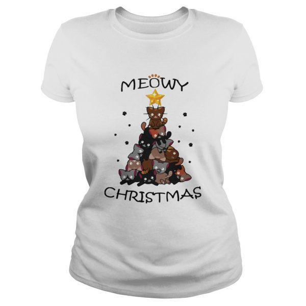 Meowy Christmas Tree Cute Merry Xmas  Classic Ladies