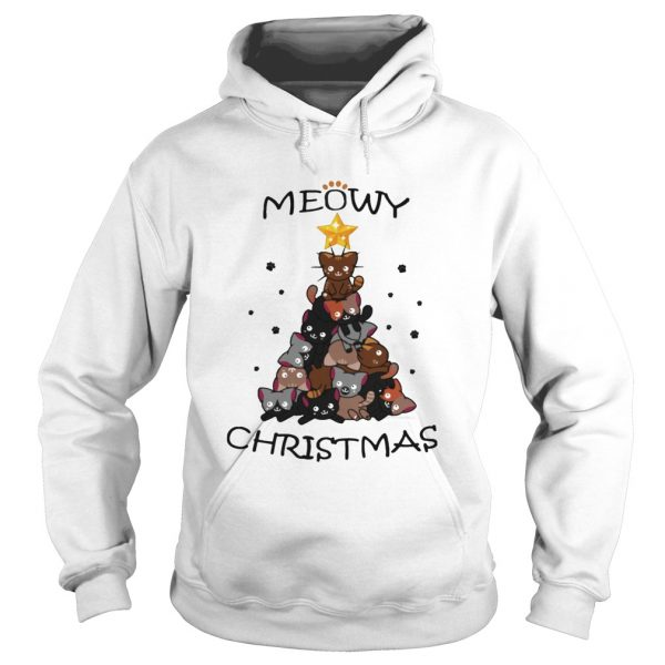 Meowy Christmas Tree Cute Merry Xmas  Hoodie