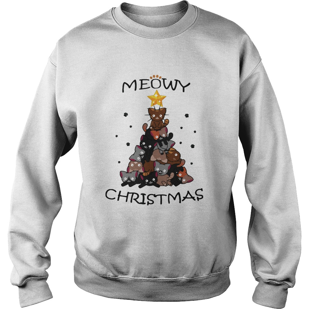 Meowy Christmas Tree Cute Merry Xmas Sweatshirt