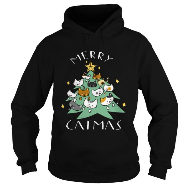 Merry Catmas Funny Cool Christmas  Hoodie