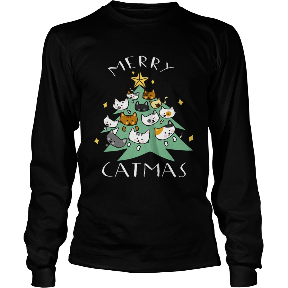 Merry Catmas Funny Cool Christmas LongSleeve