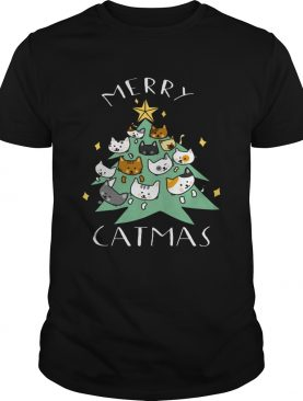 Merry Catmas Funny Cool Christmas shirt