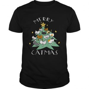 Merry Catmas Funny Cool Christmas  Unisex