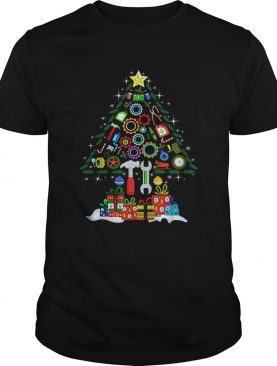 Merry Christmas Mechanic Christmas Tree shirt