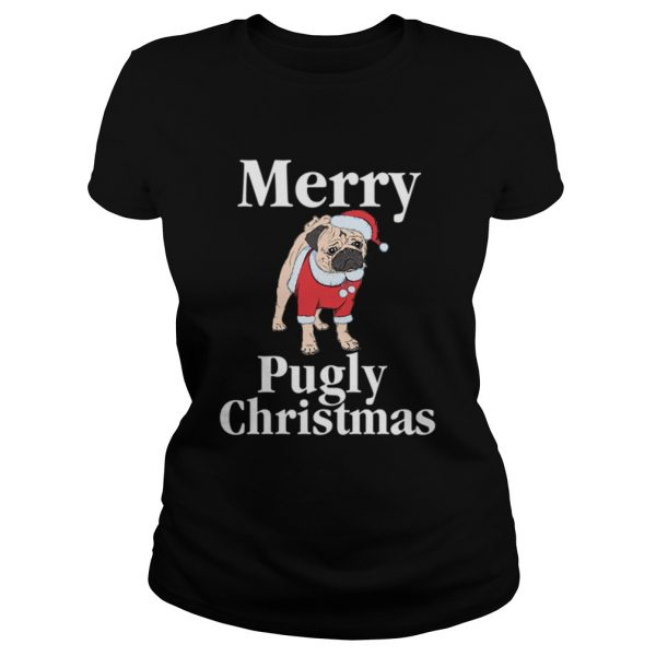 Merry Pugly Christmas Pug Xmas Dog Lover  Classic Ladies