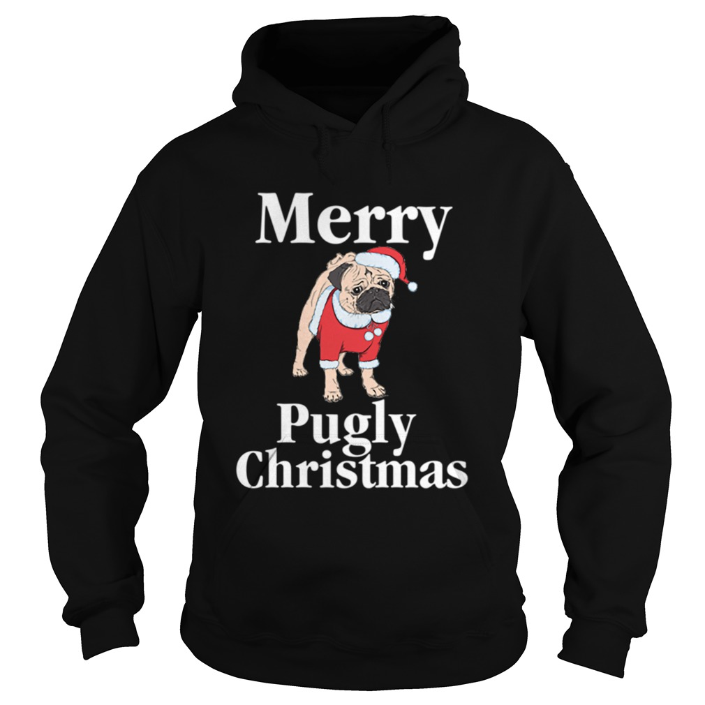 Merry Pugly Christmas Pug Xmas Dog Lover Hoodie