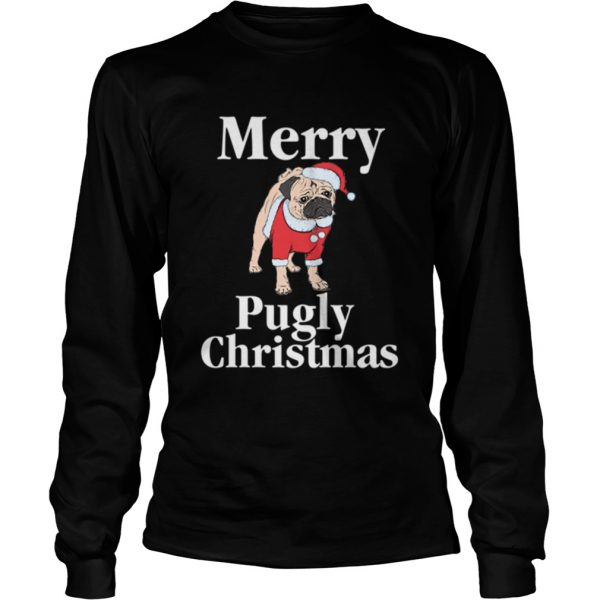 Merry Pugly Christmas Pug Xmas Dog Lover  LongSleeve