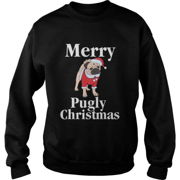 Merry Pugly Christmas Pug Xmas Dog Lover  Sweatshirt