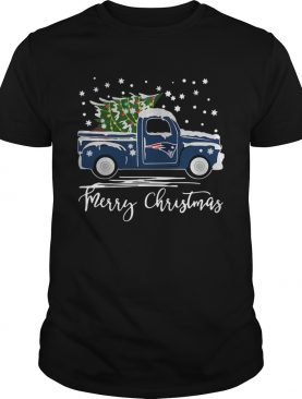 New England Patriots Pickup Truck Merry Christmas shirt