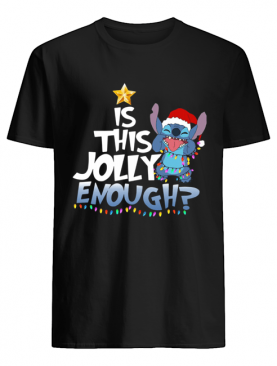 Stitch Is This Jolly Enough Christmas Lights Shirt