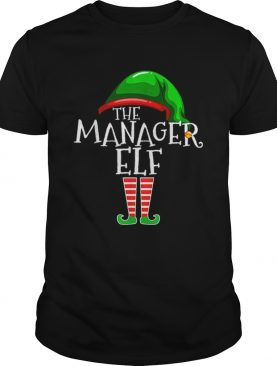 The Manager Elf Group Matching Family Christmas Gifts Boss shirt