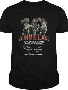 Zombieland 10th Anniversary 2009 2019 Signatures shirt