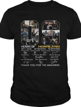 09 Years of Homeland thank you for the memories shirt