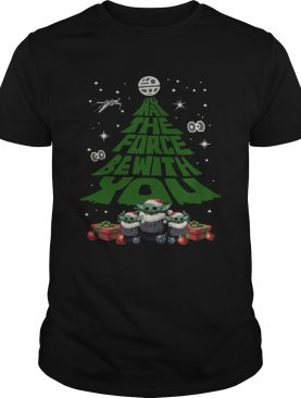 Baby Yoda May The Force Be With With You Christmas Tree shirt