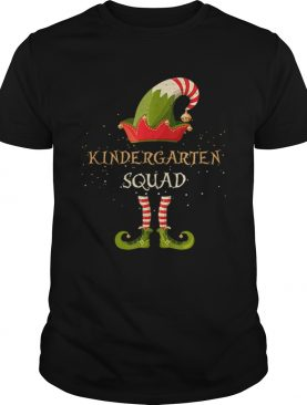Beautiful Kindergarten Squad Christmas Xmas ELF Teacher School shirt