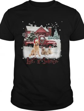 Golden Retriever let it snow Christmas shirt