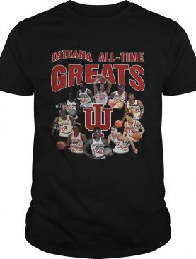 Indiana Hoosiers all time greats legend signatures shirt