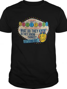 Jd Salinger Presents Hollywoo Stars And Celebrities What Do They Know shirt