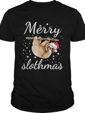 Merry Slothmas Christmas Pajama Sloth shirt