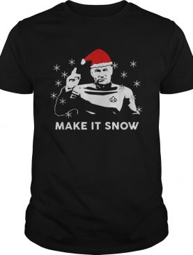 Star Trek Santa make it snow Christmas shirt