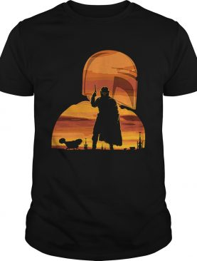 The Mandalorian Gunfighter Has Landed Star Wars Sunset shirt