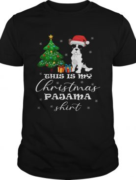 This is my Christmas Pajama French Bulldog Costume Santa Hat shirt