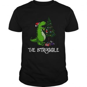 Trex Dinosaur Eating The Christmas Tree  Unisex
