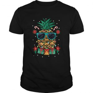 Tropical Christmas Cruise Festive pineapple  Unisex